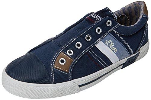 s.Oliver Herren 14603 Sneaker, Blau (Navy), 44 EU