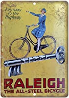 Raleigh All Steel Bicycle 金属板ブリキ看板警告サイン注意サイン表示パネル情報サイン金属安全サイン