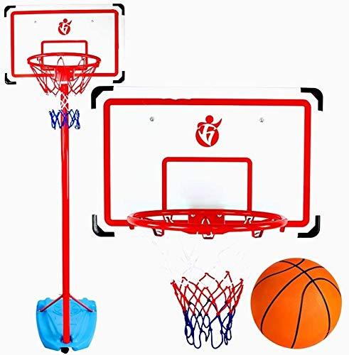 SONGYU-Basketball-Ständer Kinderbasketballkorb Bewegliche Basketball-Standplatz-System Mit Rad-Innen-und Außenhöhenverstellbar 180-300cm Basketballkorb
