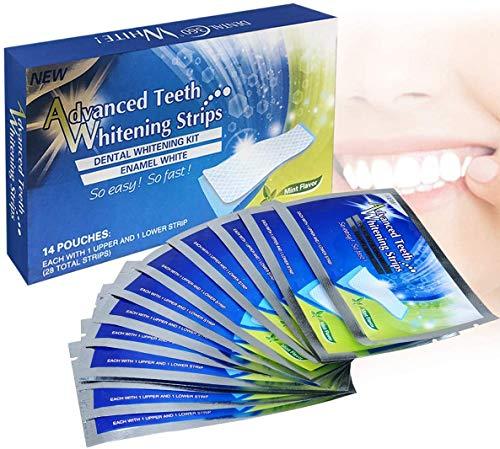 White Stripes zur Zahnaufhellung, Bleaching Stripes Teeth Whitening strips für Weiße Zähne Zuhause