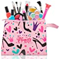 My First Princess Make Up Kit - 12 Pc Kids Makeup Set - Washable Pretend Makeup For Girls - These Makeup Toys for Girls Include Everything Your Princess Needs To Play Dress Up - Comes with Stylish Bag from FoxPrint