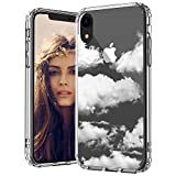 MOSNOVO Cloud Pattern Designed for iPhone XR Case,Clear Case with Design,TPU Bumper with Protective Hard Case Cover