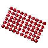 harayaa 50 Piezas de Madera Roja de 10 Mm, Cuentas Redondas de Bricolaje, Hallazgos Artesanales de Joyería