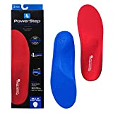 Powerstep Unisex's Plantar Fasciitis Shoe Inserts Orthotic, Red/Blue, Men's 5-5.5, Women's 7-7.5
