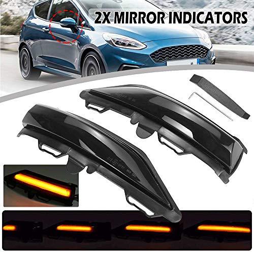 Für Ford Fiesta Mk8 2019 2020 LED Dynamisches Blinklicht Auto Rückspiegel LED Blinker 100% wasserdicht 2St