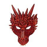 Máscara de Dragón, Ideal para Disfraz de Halloween Cosplay, Accesorios Festivos, Unisex-adulto, Talla única