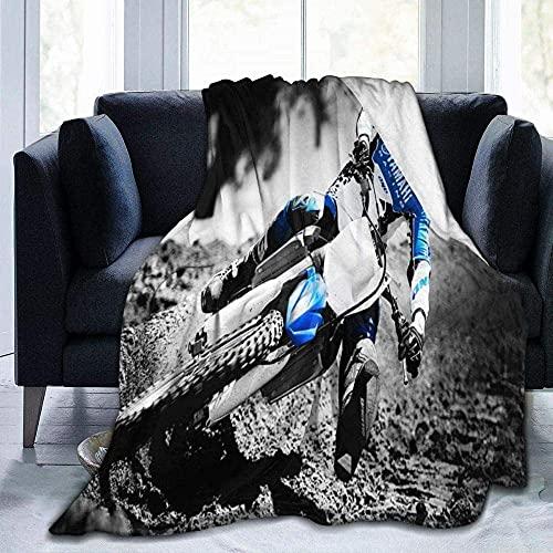 Mantas para sofá cama, manta de carreras de motor estilo vintage, manta de sala, dormitorio, sofá, viaje, cálido, súper mullida, para niños y adultos en todas las estaciones de 156 x 150 cm