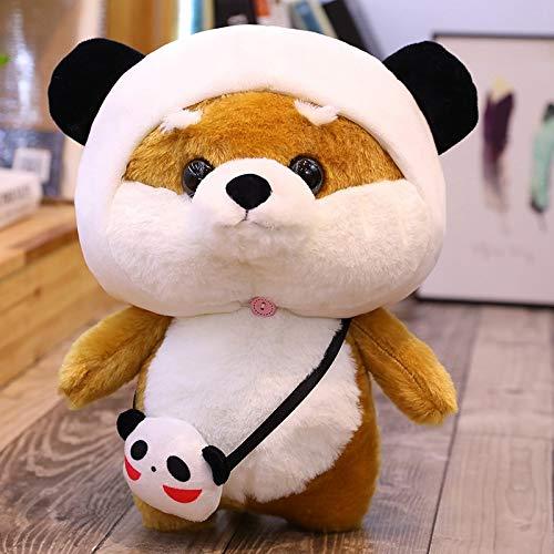 XWYWP Soft Toys Cute Shiba Panda Duck Dinosaur Rabbit Plush Toy Stuffed Animal Doll Soft Pillow Kids GirlsGift Plush Toys 25cm panda1