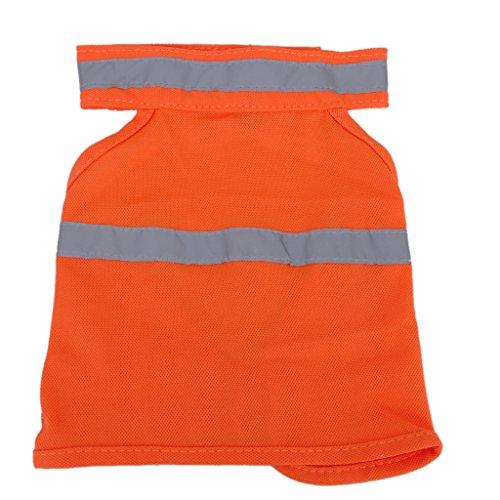Gilet Veste de Sécurité Haute Visibilité pour Chien Orange M