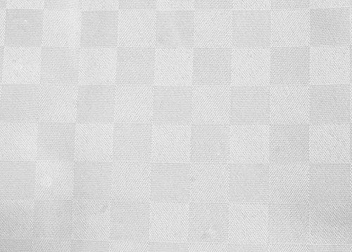 Tovaglia Tavola Copritavolo QUADROTTA Tessuto Antimacchia da 4 a 24 posti -Bianco-140x180