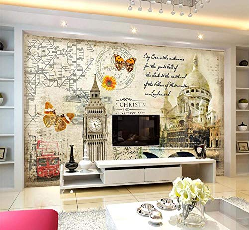 RTYUIHN 3D Wallpaper Classical Architectural Decoration Painting Retro Style European Modern Wall Art Decoration