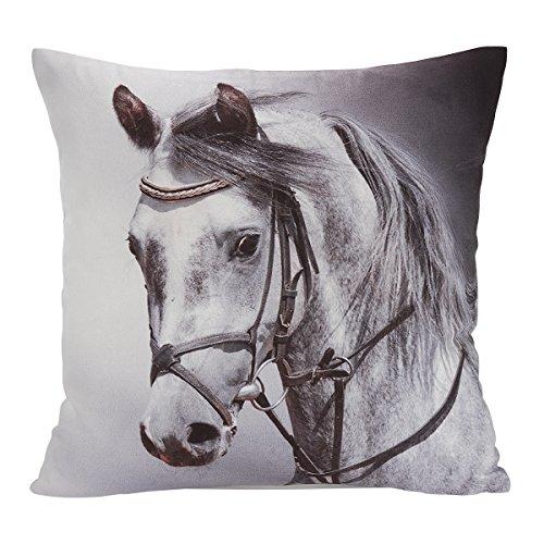 avanzza almohada/cojín con relleno 40x 40cm, con diseño de caballo/Caballos Cojín de sofá almohada/sofá y cojín decoración almohada/Decoración de la línea Animal Chic