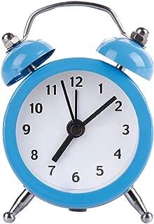 Alarm Clocks - Mini Round Alarm Clock Desktop Table Bedside Clocks Kids Adults Travel Decor Est - Light Atomic Battery Dual Wall Wheels Cube Marble Vintage Machine Bright Easy Loud Time