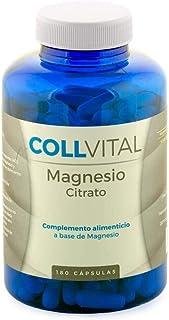 Citrato de Magnesio natural 180 cápsulas de 400mg vitaminas para el cansancio suplemento para 6 meses. Suplementos deportivos en capsulas que evitan la fatiga y el cansancio.
