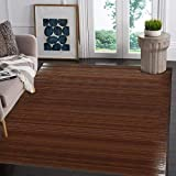 "Natural Bamboo 5' X 8' (60""x96"") Floor Mat, Bamboo Area Rug Indoor Carpet, Elegant Walnut Dark Brown Color Finish, Non Skid Backing, Floor Runner Mat for Living Room, Hallway, Kitchen, Office"