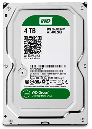 Western Digital WD40EZRX - WD Green 4TB 3.5 Inch Desktop INTELLIPOWER 64MB SATA 6Gb/Sec Internal HDD, [Importado de UK]