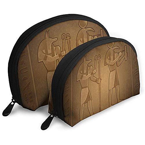 Antiquité Égyptienne Sacs À Cosmétiques Étanche Tissu Maquillage Pochette d'emballage Cosmétique Et Articles De Toilette Organisateur Sac Portable Trousse De Toilette