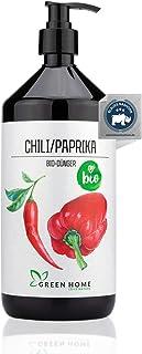GREEN HOME LOVE NATURE 1L Bio Chili/Paprika Dünger mit hohem Nährstoffgehalt - nachhaltiger Paprika Dünger einfach zu dosieren - Made in Germany