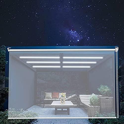 XIAOLIN Pergola Balkon Außen Rollos Aufrollen, Regendichter Vorhang Aus Transparentem Kunststoff Mit Beschlägen, Tür Fenster Partition (Color : Clear, Size : W120xL140cm)