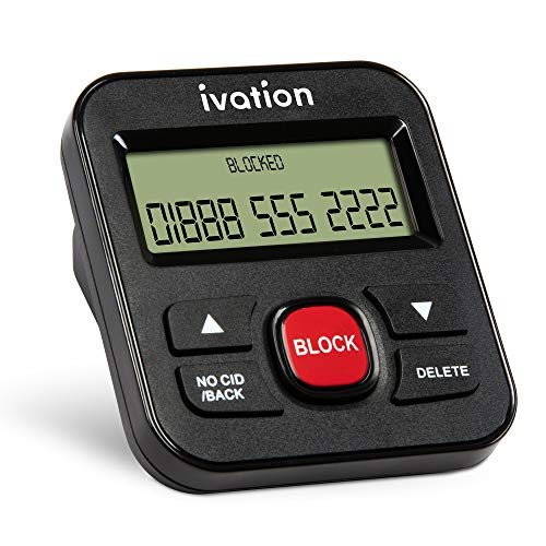 Ivation Call Blocker for Landline Phones - Stop Scams, Robocalls, Unknown Numbers, Solicitation and Calls with no Caller ID – Easy One-Touch Operation – Saves and Blocks up to 4000 Phone Numbers