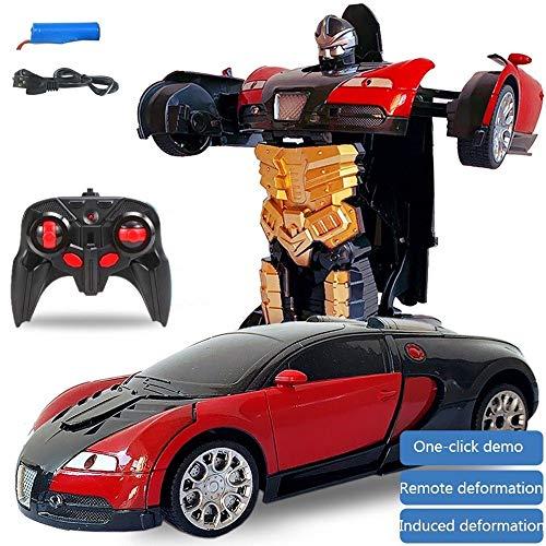 S2F5 Transformers Robot Coche eléctrico de una y catorce Transformador de Control Remoto de Coches de Control de Carga a Distancia de inducción Deformación de Control Remoto Optimus Prime Niño Regalo