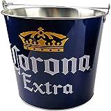 Silver Buffalo Corona Extra Metalleimer, rund, 5 l, Blau