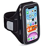 Sporteer Velocity V7 Running Armband - Compatible with iPhone 12, 12 Pro, 11, XR, 11 Pro, Xs, 8, 7, Galaxy Note 10, Galaxy S21, S20, S10, S9, Pixel 4, 3a, LG, Moto and More - Fits Most Cases