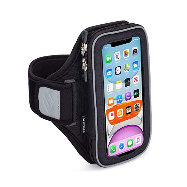 Sporteer Velocity V7 Running Armband – Compatible with iPhone 11, XR, 11 Pro,...