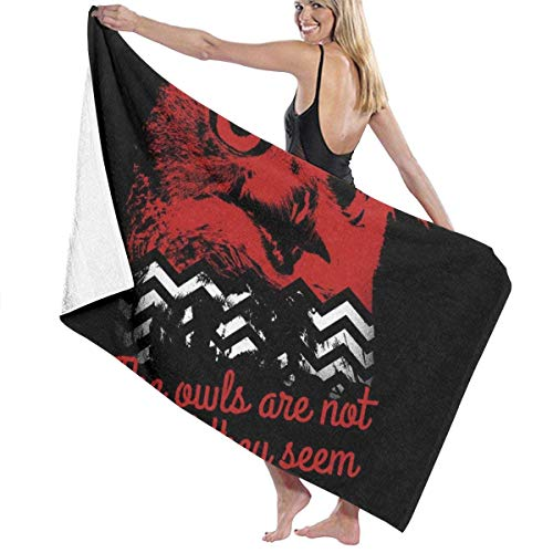qisile Toalla de bañoTwin Peaks The Owls Are Not What They Seem The Loomia Bath Towel Five Star Hotel Quality .Premium Collection Bathroom Towel.Soft,Plush and Highly Absorbent (1 Bath Towel 31x51 I