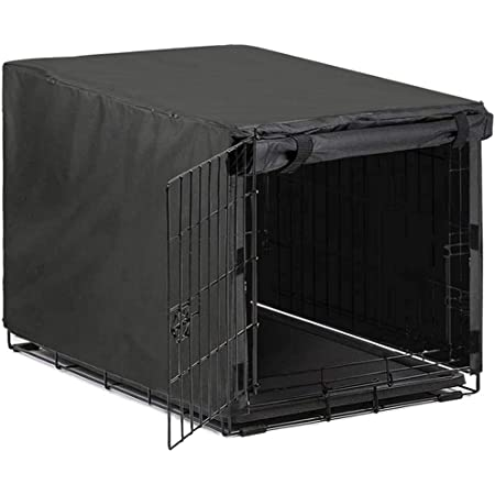 Avanigo Black Dog Crate Cover for 24 36 42 48 Inches Metal Crates Wire Dog Cage,Pet Indoor//Outdoor Durable Waterproof Pet Kennel Cover