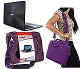 Navitech Lila Prime Hülle/Cover Trage Tasche für das ASUS Transformer Book T100 / T100 Chi / T100HA