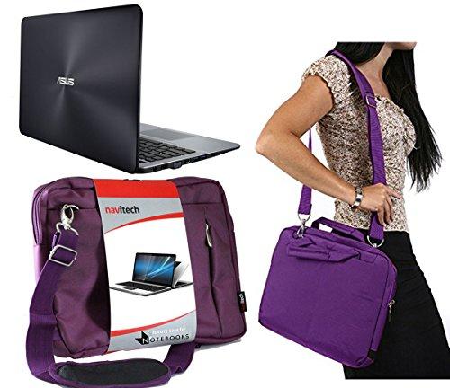 Navitech Lila Prime Case/Cover Trage Tasche für das ASUS EeeBook X205TA