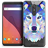 Caseink Coque pour Wiko View (5.7) Housse Etui [Crystal Gel HD Polygon Series Animal...
