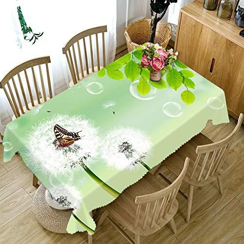 XXDD Mantel 3D para Cocina, Mantel de Comedor, patrón de Flores, decoración para el hogar, Mantel Rectangular para Fiesta, decoración A5 140x210cm