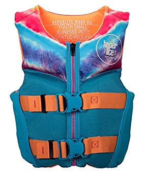 Hyperlite Indy Youth CGA Girls Wakeboard Vest Purple/Coral Sz S  50-75Lbs