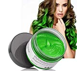 MOFAJANG Hair Coloring Dye Wax, Temporary Hairstyle Cream 4.23 oz, Hair Pomades, Natural Hairstyle Wax for Men and Women Party Cosplay (Green)