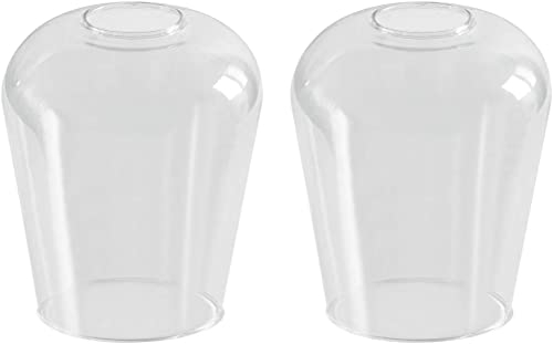 discount 2 popular Pack Wine Glass Lamp Shade, Clear Glass Cover Replacements for Lighting Fixtures new arrival (Clear Glass, 2 Pack) online