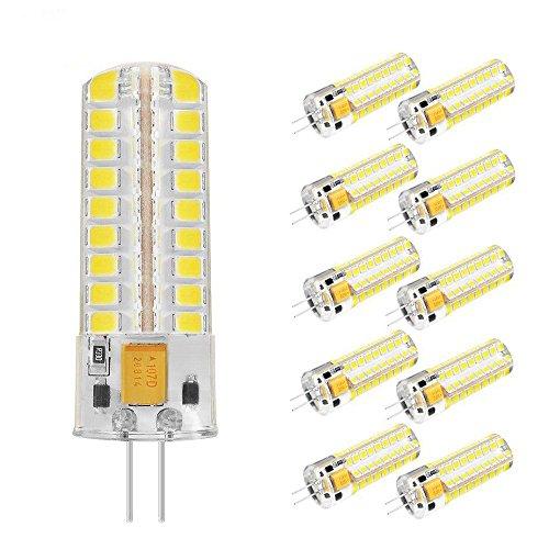 TINS G4 7W Lampadina LED Corn Light AC/DC 12V 550 Lumens Sostituzione 60W Luce alogena Cool White 5500K Angolo di 360 gradi Angolo luminoso,Confezione da 10