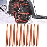 Qishun Bridas Antideslizantes para vehículos portátiles nuevos, Cadenas de Nieve para automóviles Cadenas de neumáticos...