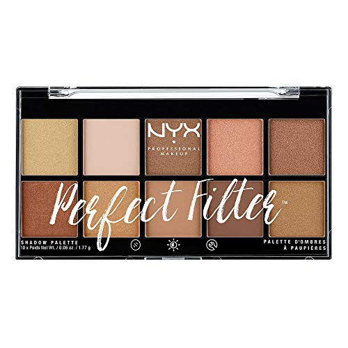 NYX Professional Makeup Palette Ombretti Perfect Filter, 10 Ombretti, Golden Hour