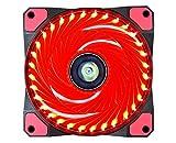 Ventilador de PC,CONISY 120 mm LED Gaming Ultra Silencioso Ventiladores para Caja de Ordenador (Rojo)