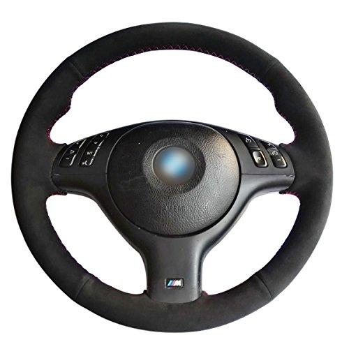negro de piel funda para volante
