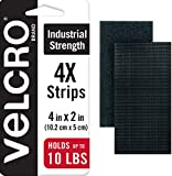 VELCRO Brand Heavy Duty Fasteners | 4x2 Inch Strips 4 Sets | Holds 10...