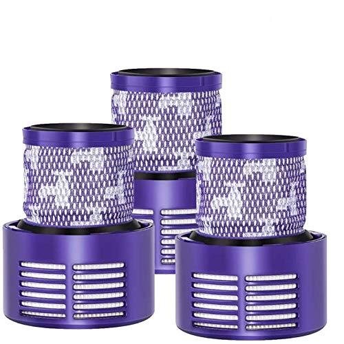 Filtre de remplacement pour Dyson V10 SV12 Series,3 Pack Remplacez le filtre,avec Une Brosse de Nettoyage,Compatible pour Dyson Cyclone V10 Absolute,Animal,Motorhead,Total Clean