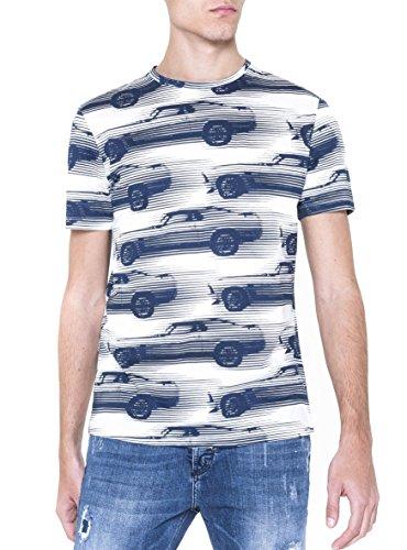 Antony Morato Mmks00984-Fa100064 T-Shirt, Bianco, Medium (Taglia Produttore:M) Uomo
