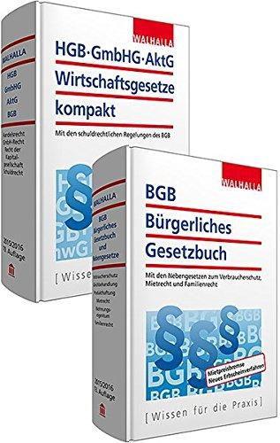 Kombi-Paket BGB Bürgerliches Recht + HGB, GmbHG, AktG, Wirtschaftsgesetze kompakt
