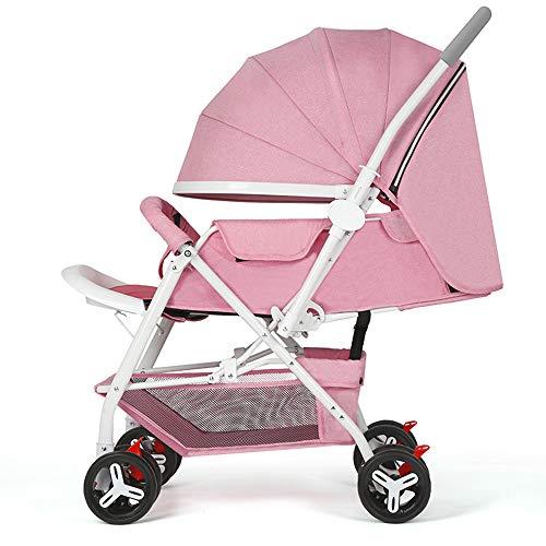 Poussette, poussette légère à 4 roues, poussette pliante portative, peut s'asseoir sur une poussette, convient aux bébés de 0 à 36 mois