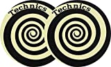 Magma de Factory Technics espiral amarillo Glow Slipmat, 2unidades)