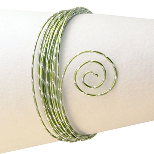 Vaessen Creative Aludraad diamant sieraden 2 mm x 5 meter | buigzaam sieraad appelgroen, aluminium, appelgroen, 500 x 0,2 x 0,2 cm
