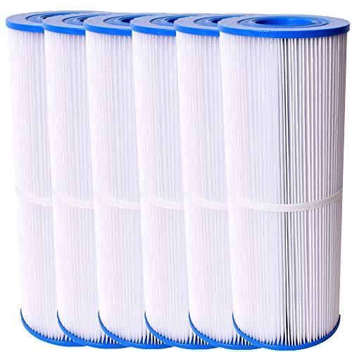 Unicell 6 Stück Whirlpool Filterkartusche Pool Zubehör Poolfilter Kartusche Filter Lamellenfilter